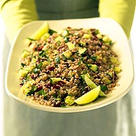 Cilantro Tabbouleh with Freekeh Bulgur and Cranberries