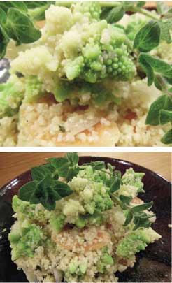 KAMUT ® Khorasan Couscous with Lime Oregano Organic Carrots &  Romanesco Cauliflower